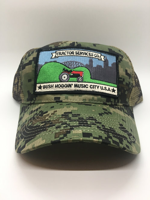 Tractor Services Trucker Hat, Digital Camo
