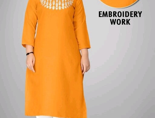 Embroidery Work Casual Wear Kurti in Cotton Febric At Manufacturing Price