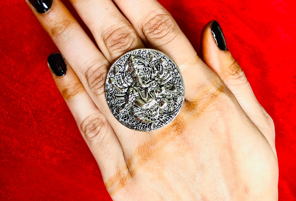 Designer Oxidized Rings   Bollywood Style Adjustable Ring   Premium Quality Ring