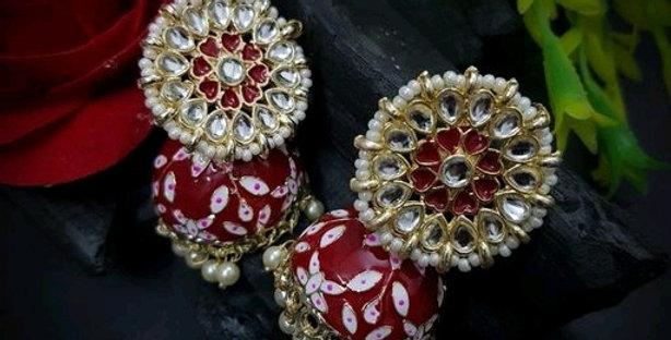 Traditional Handicraft Meenakari work Jhumka Earrings for Girls / Women