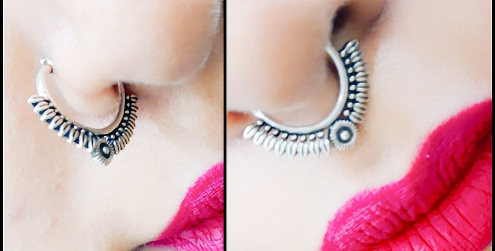 Oxidized silver Plated Septum Nosering