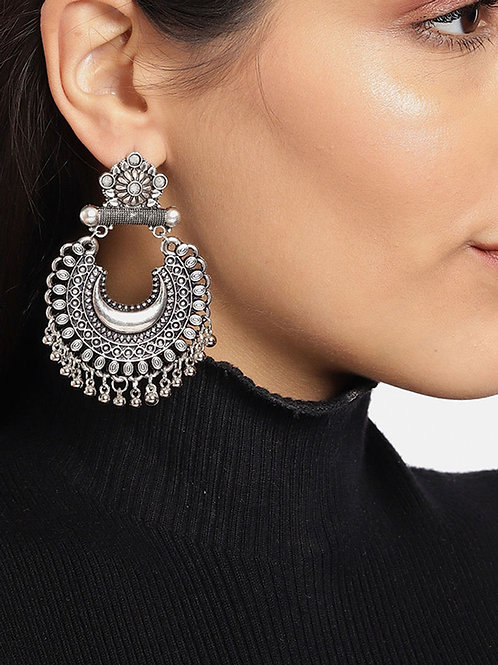 Traditional Oxidized Chandbali Earrings just at Manufacturer Price