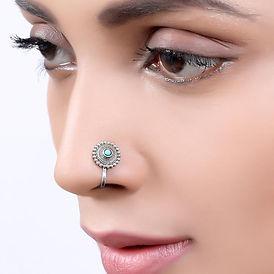 Sara-silver-nosepin-clipon-Turquoise-02_