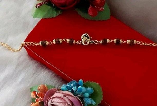 Ganesha RUDHRAKSH Special Rakhi , God Symbols Best wishes Rakhis for Bhai