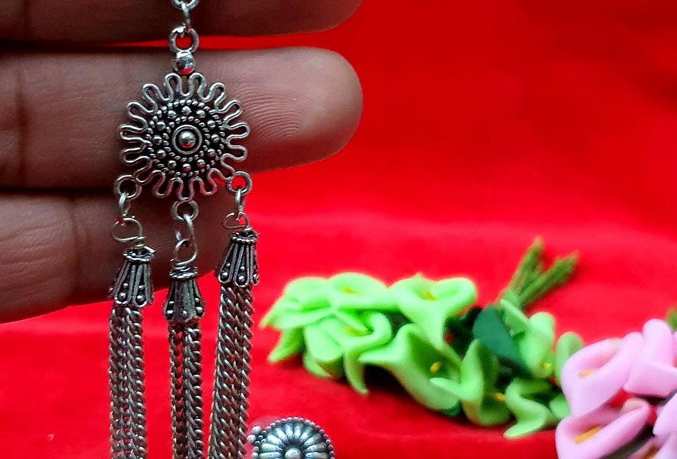 Light Weight Shape German Silver Chain Earring ,  Hanging Earrings