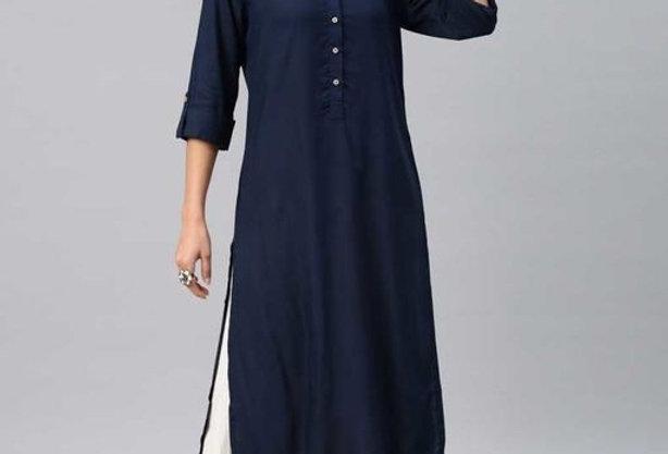 Pure Rayon Kurta for Girls in Best Price | Dark Blue Rayon Kurti