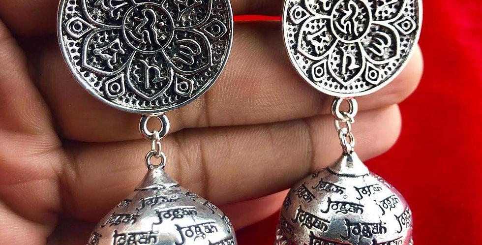 Silver Plated Jogan Jhumka Earring For Girls