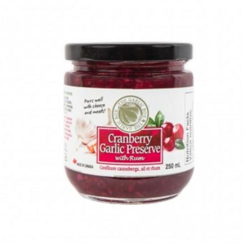 The Garlic Box Cranberry Garlic Rum Preserve