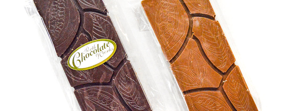 Chocolate Bars with Cocoa Bean Design 45g