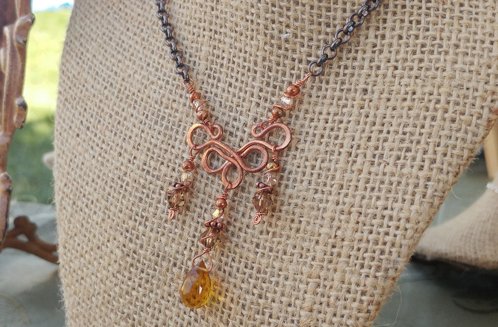 Copper Festoon Necklace