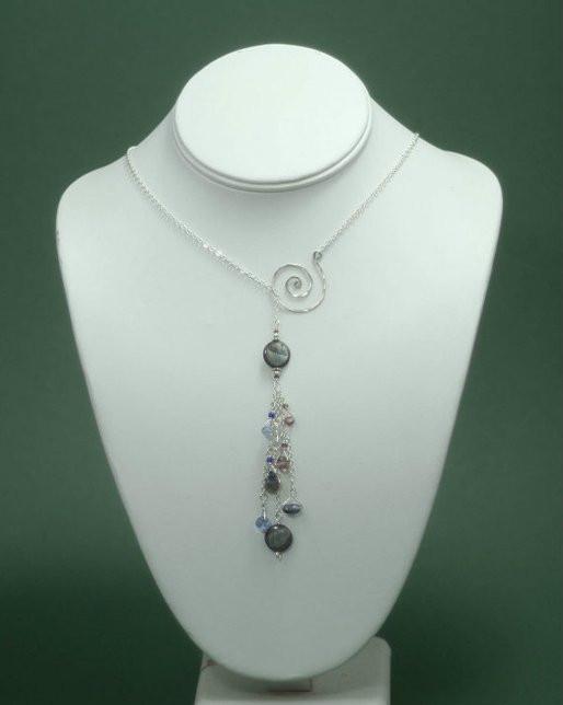 Spiral Lariat Necklace
