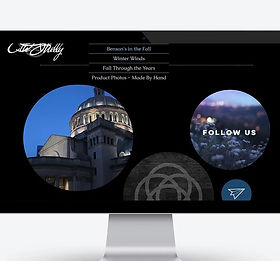 A screenshot of E.A.Shelly Photography Portfolio website's homepage
