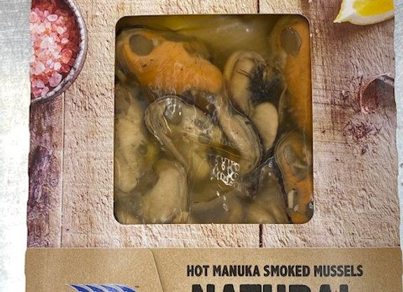 HOT MANUKA SMOKED MUSSELS (180 g)