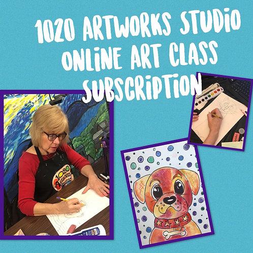 1020 Artworks Studio Online Art Program