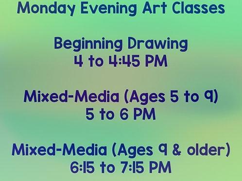 2021 Monday Evening Art Classes