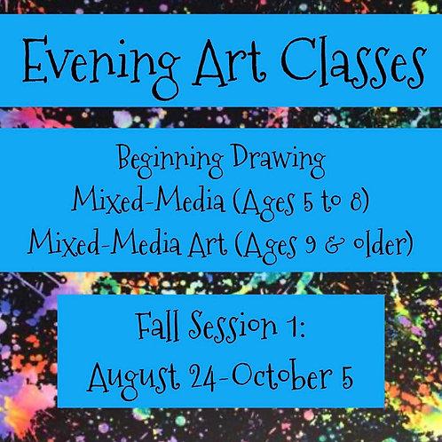 Evening Art Class 6-Week Sessions