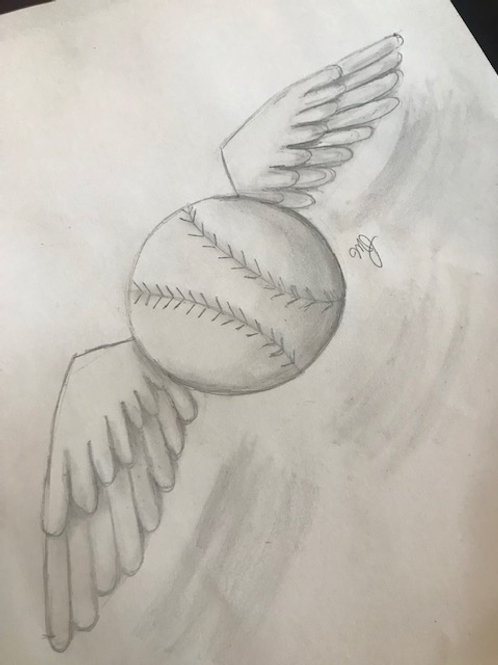"""Flying"" Baseball Online Art Lesson"