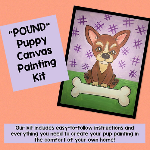 """Pound"" Puppy Canvas Painting Kit"