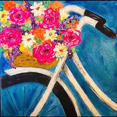 Vintage Bicycle Canvas Painting Kit