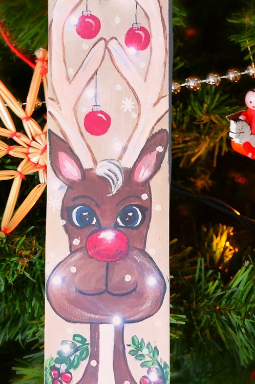 Rudolph Lighted Panel Painting Class