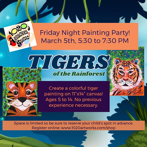 Parents Night Out! Friday Fun Painting Class