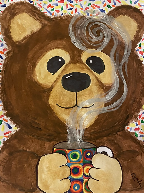 Bears Love Hot Chocolate! Painting Kit