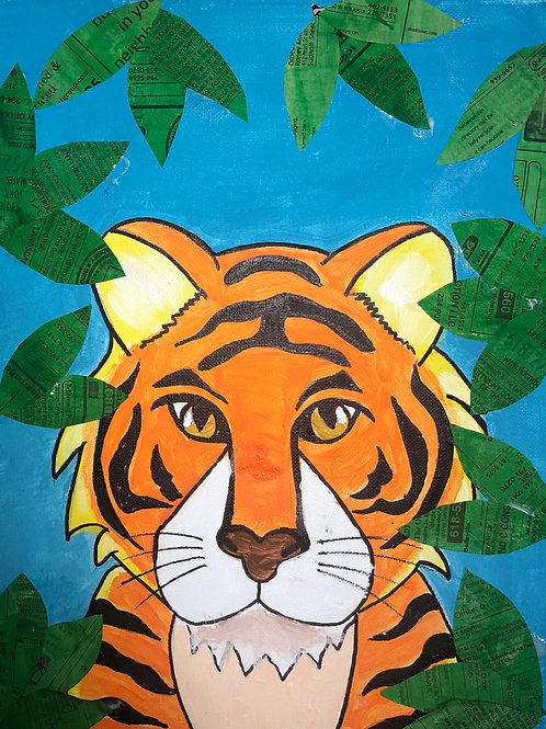 Tiger in the Jungle Painting Kit