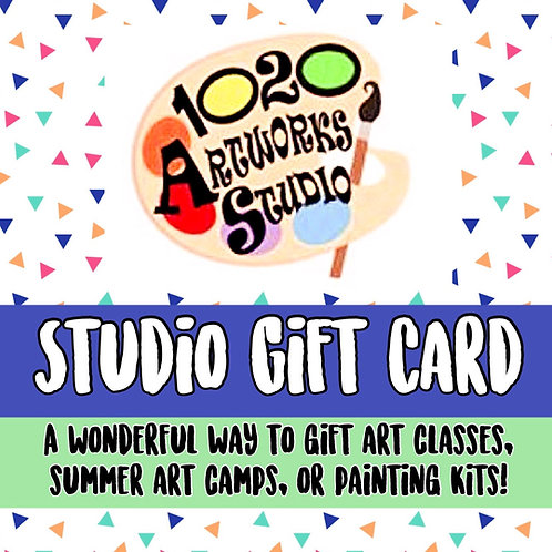 1020 Artworks Studio Gift Card