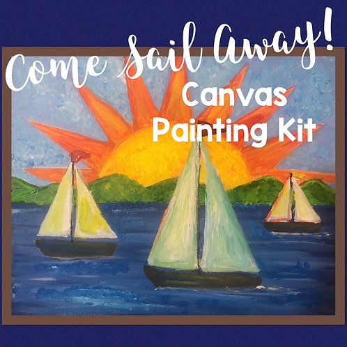 Come Sail Away! Canvas Painting Kit