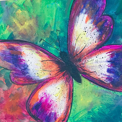 Butterfly Canvas Painting Kit