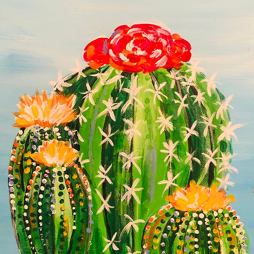 Colorful Cactus Canvas Painting Kit