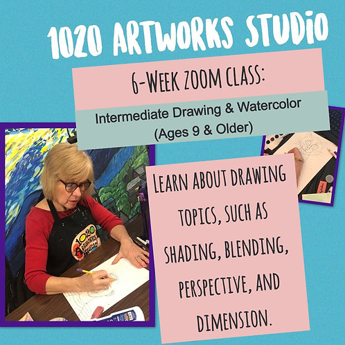 6-Week Zoom Class: Drawing for Older Artists