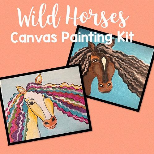 Wild Horses Canvas Painting Kit
