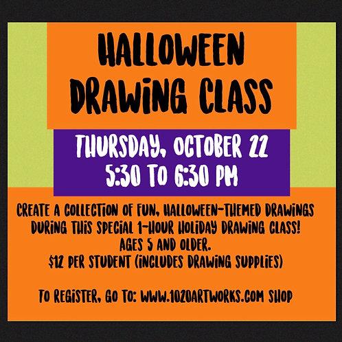 Halloween Cartoon Drawing Class