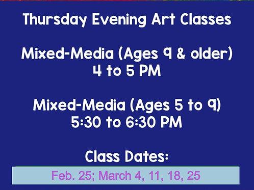 Thursday Evening Art Classes