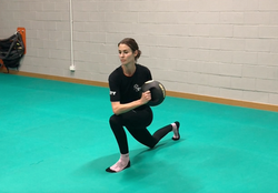 Med Ball Front Lunges