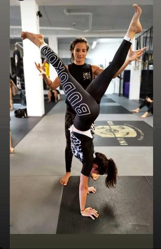 Melayne & Winnie at Budokon Miami HQ  March 2020 BDK Yoga & Mobility TT  Photo credits @Isa Perez