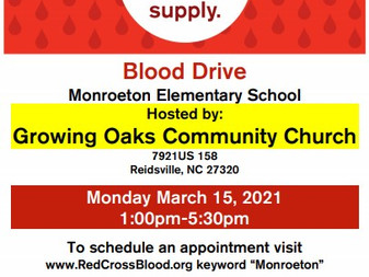 Monroeton Elementary Blood Drive