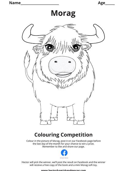 Morag Colouring Page