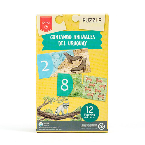 Puzzle Contando Animales