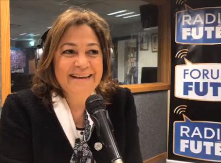 Mme Sylvia Elbaze au micro de Radio Futée