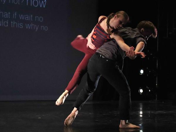 "LaneCoArts  Dancers: Dominique Dobransky, Gabriel Berger  Performance: ""Askew"", Women in Dance Leadership Conference"