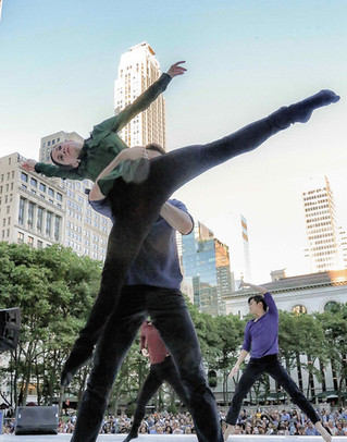 LaneCoArts  Dancers: Julien Frei, Grace Whitworth   Performance at Bryant Park, NYC