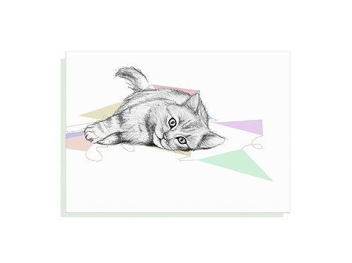Cat Bunting Card
