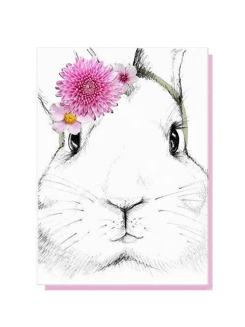 Floral Bunny Card