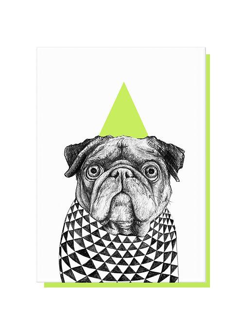Party Pug Card
