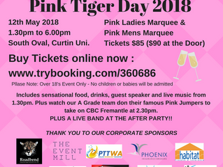 The Shakespeare Partners 2018 Pink Tiger Day - Tickets On Sale Now!!