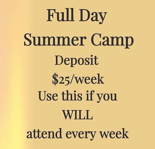 Summer Camp Deposit (attending all weeks)