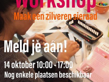 Zondag 14 oktober Basis Workshop nog enkele plaatsen beschikbaar