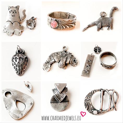 Voorbeelden zilveren sieraden workshop.j